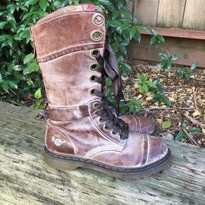 Dr Martens Triumph Brown Floral Massai Boots 9L
